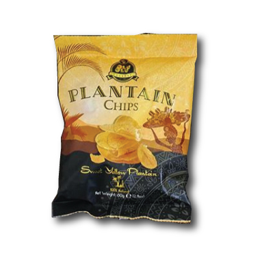 Box of Olu Olu Plantain Chips Sweet 60g x 24